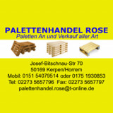 Palettenhande Rose